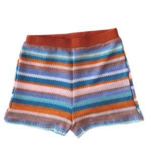 SHEIN Retro Sheer Vintage Look Striped Shorts M